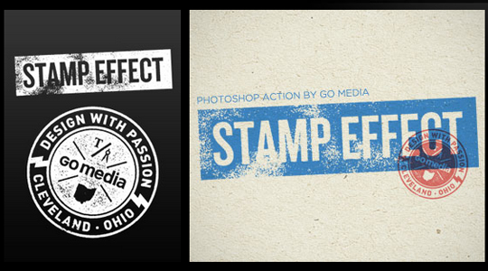 Vintage Stamp Effect Photoshop Action