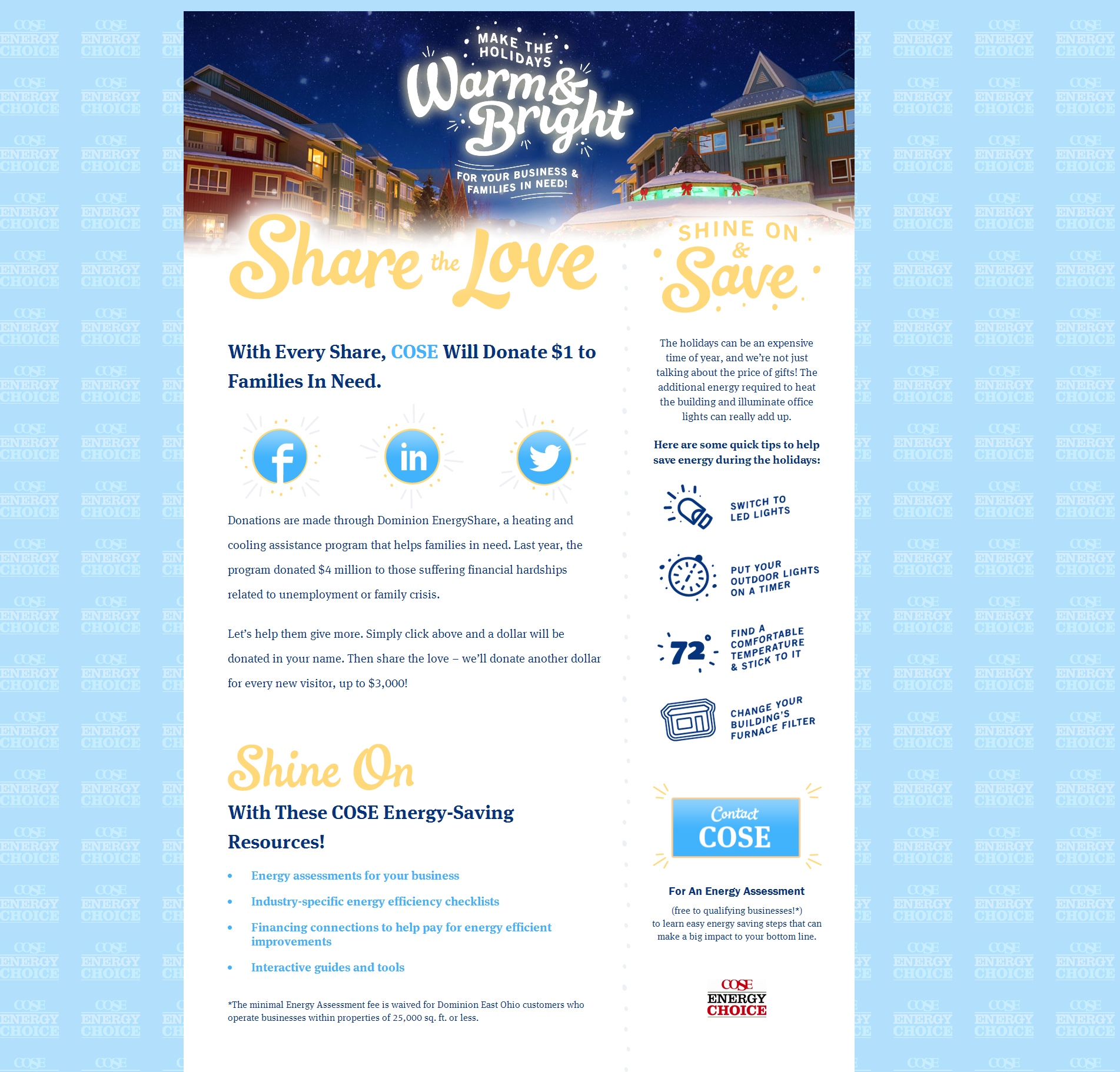 COSE Warm and Bright Website Design - homepage