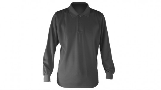 Apparel > Men's > Polo Shirt > Ghosted > Long Sleeved > Front