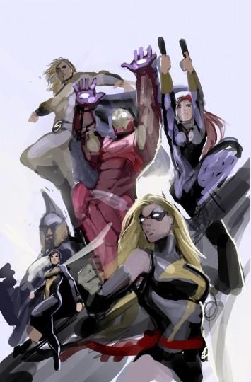 avengers_doodle_by_nebezial