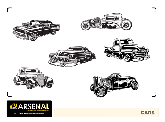 Vintage Cars Vector Pack - Set 22
