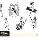 Pinup Vector Pack - Set 22
