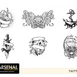 Retro Tattoos Vector Pack - Set 22