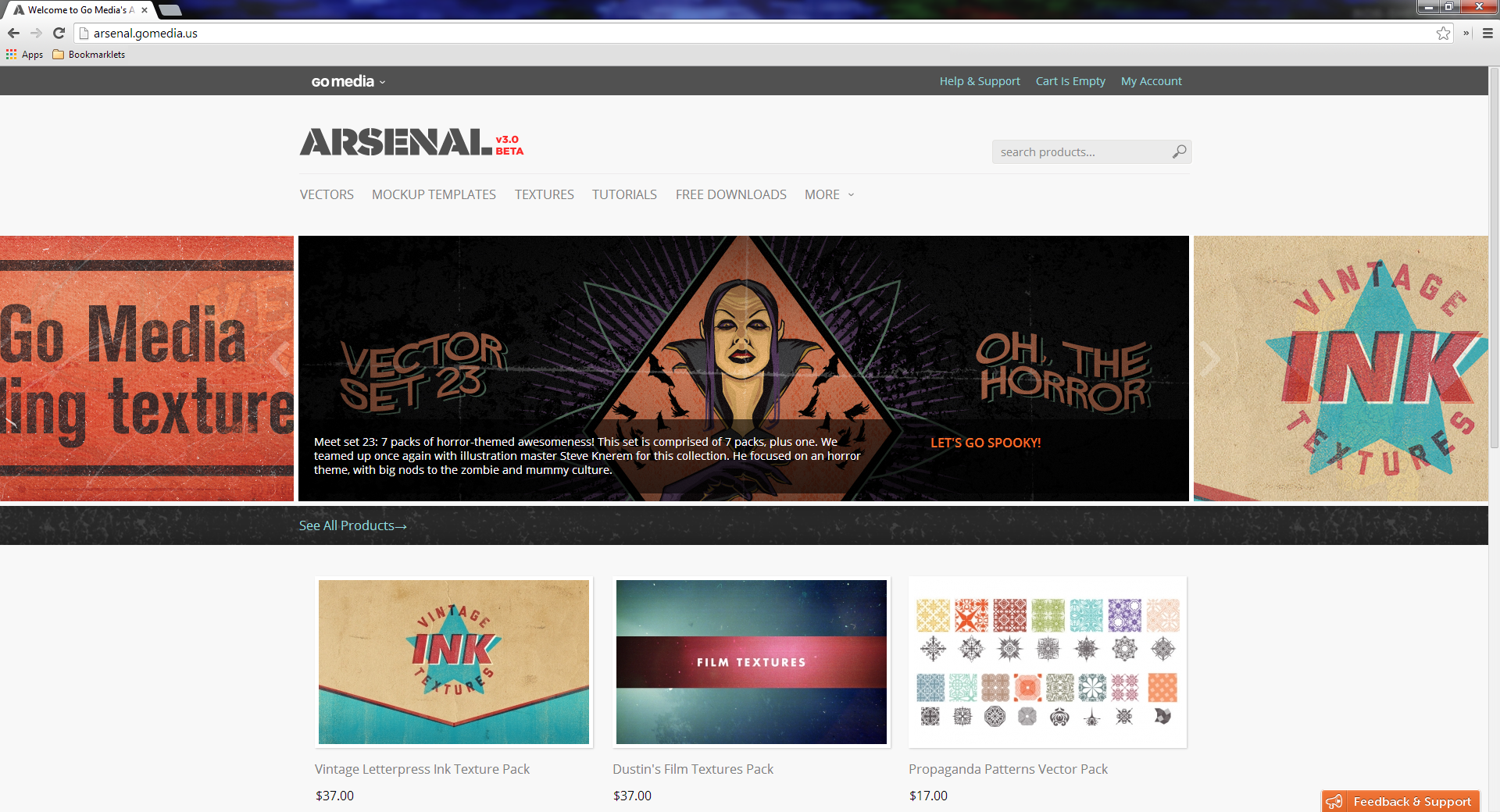 Arsenal v3 βeta homepage