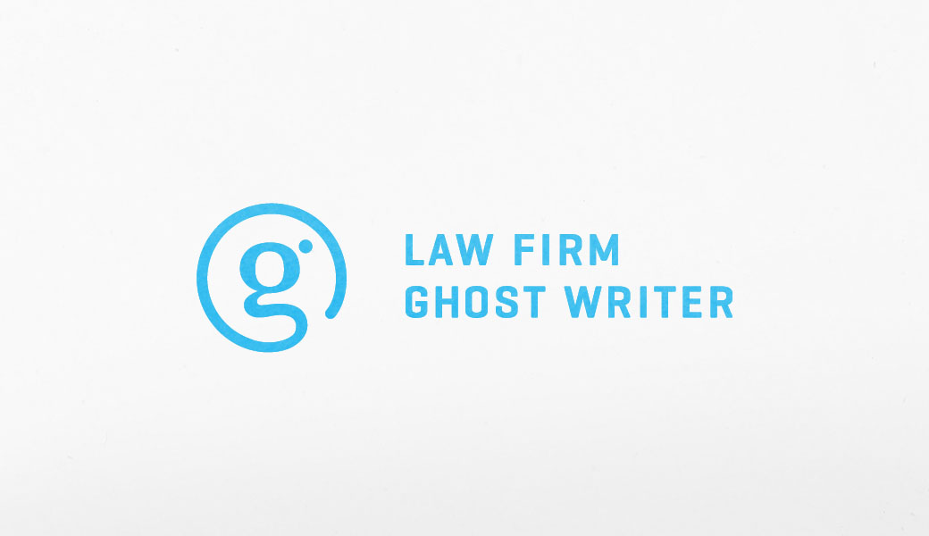 Law firm ghost writer branding and web design by go media for Firm company