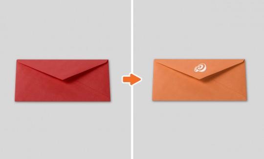 Envelope triangle back