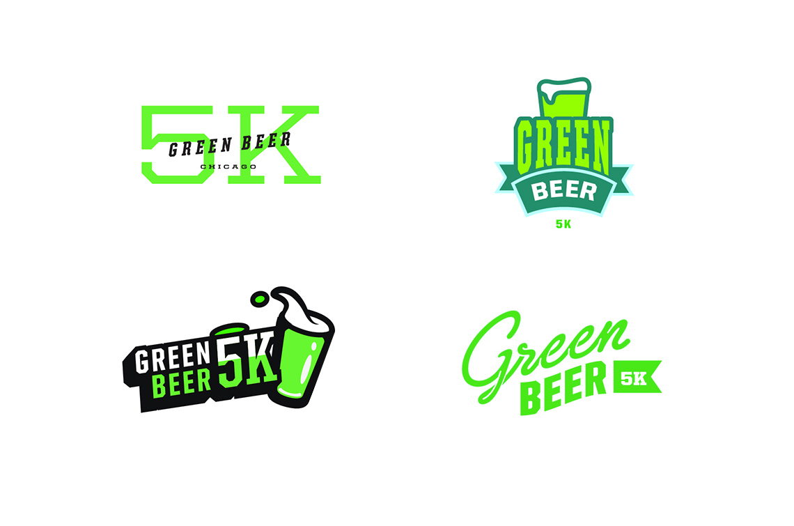 Green Beer 5K Logo Designs