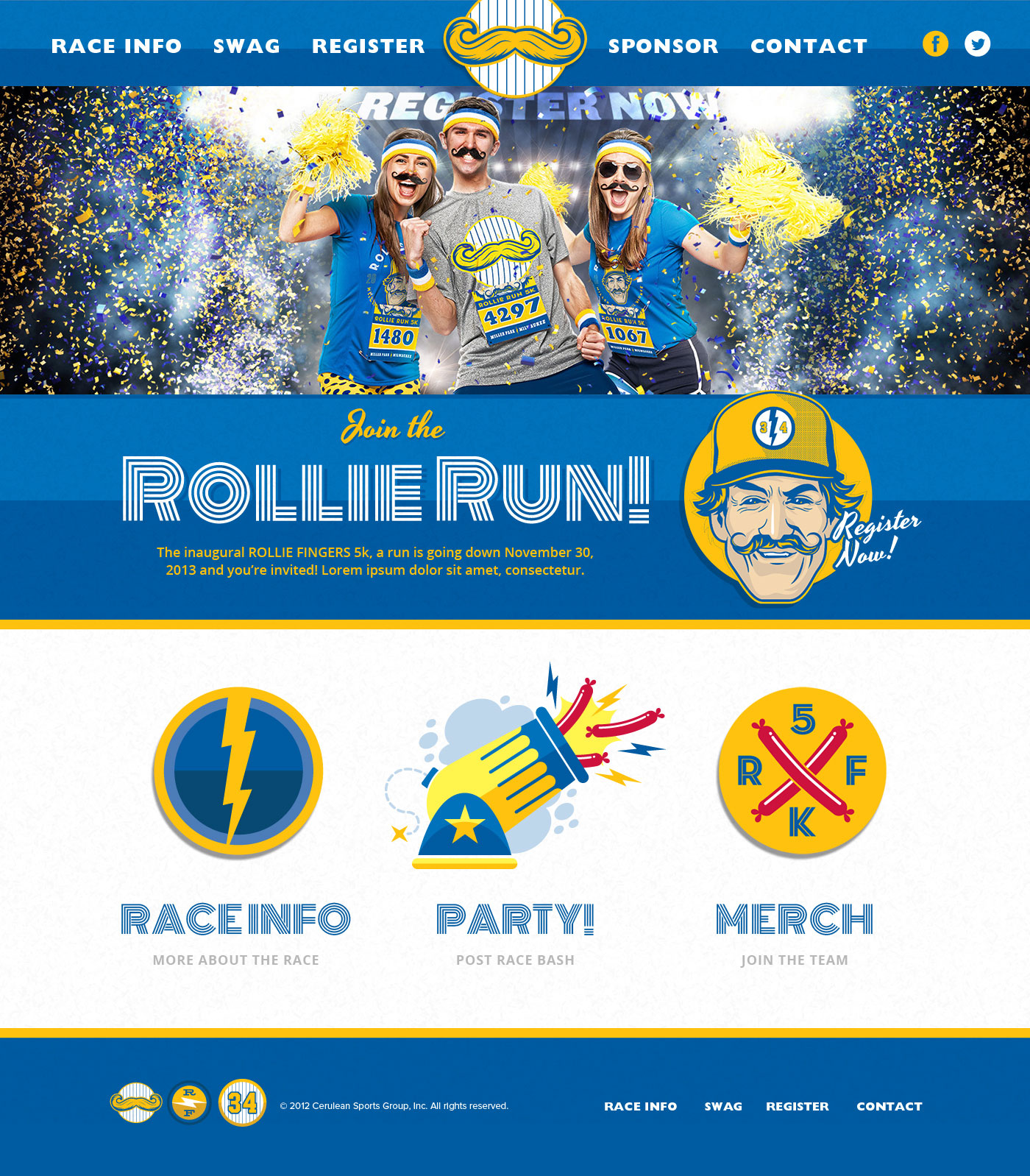 Rollie Fingers 5K Website Design