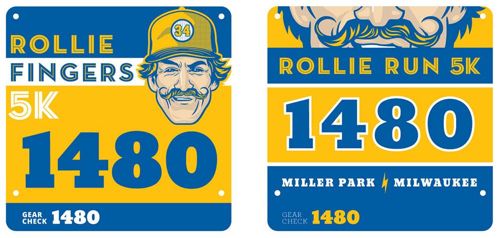 Rollie Fingers 5K Print Design Bibs