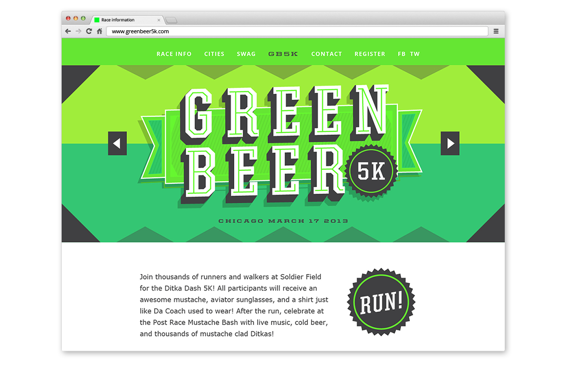 Green Beer 5K Final Logo Design