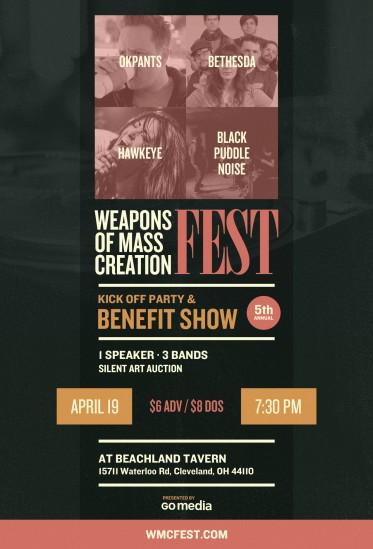 WMC Fest 5 Benefit Show Poster