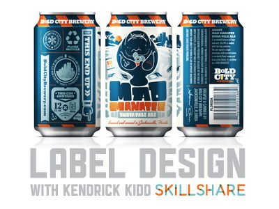 Label Design Class on Skillshare by Kendrick Kidd