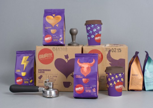 Gravity Coffee Packaging