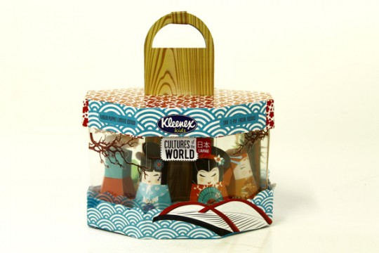 Kleenex tissue packaging: Cultures of the world by Carli Herbst