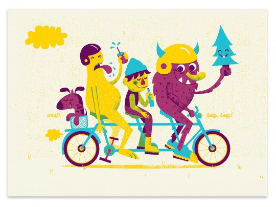 BIKE PRINT Illustration, Prints