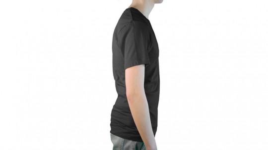 Men's V-Neck T-Shirt Modelshot, Side