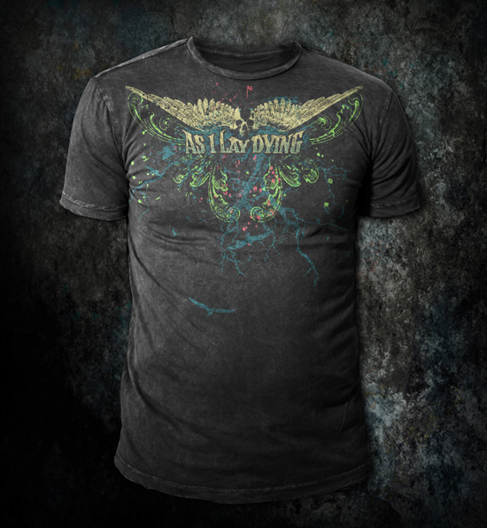 As I Lay Dying - Custom t-shirt design by Go Media