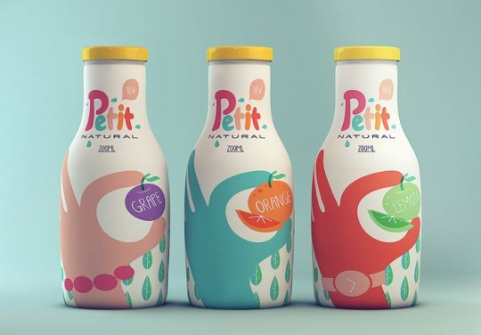 Petit Natural packaging by Isabela Rodrigues