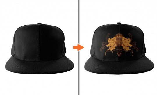 Flat Billed Snapback Hat