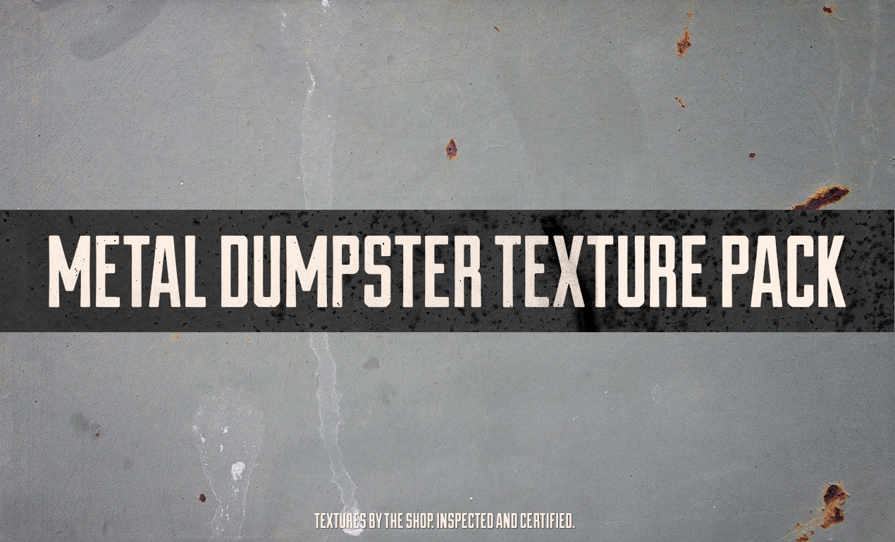 The metal dumpster texture pack by The Shop / Simon Birky Hartmann