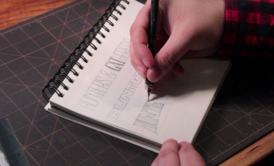 hand lettering tutorial by Jason Carne arsenal.gomedia.us - preview