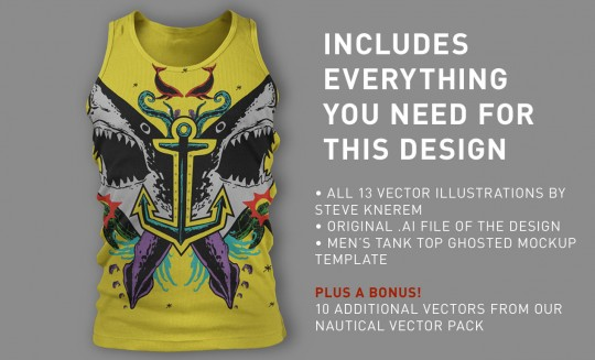 shark attack t-shirt vector pack - everything you need
