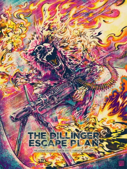 The Dillinger Escape Plan Poster by Miles Tsang