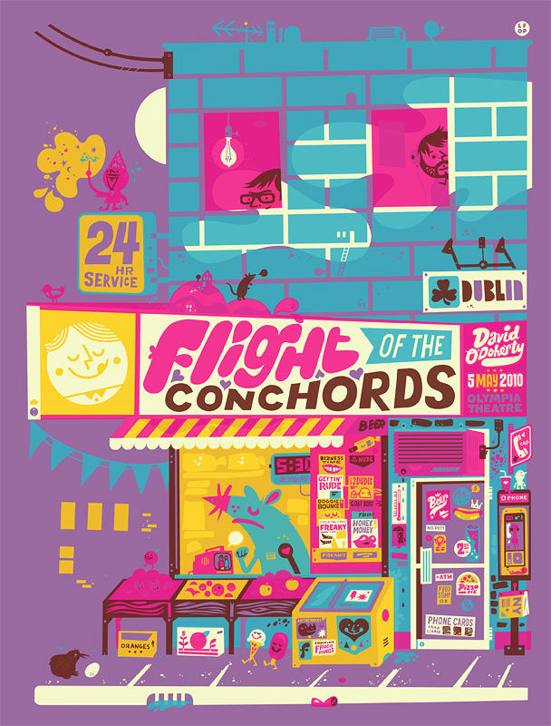 Flight of the Conchords Poster | The Little Friends of Printmaking