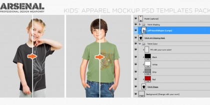 go-media-kids mockup template pack header