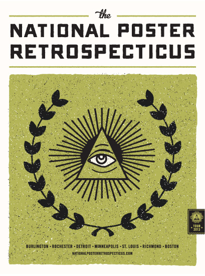 National Poster Retrospecticus Tour Poster 2013 | JP Boneyard