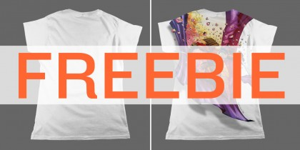 go-media-zine-header-ladies-flat-tshirt-templates-FREEBIE