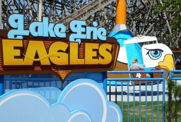 typography of cedar point lake erie eagles