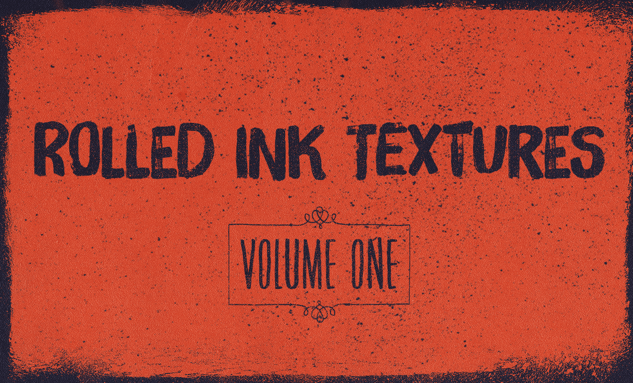 Rolled Ink Texture Pack, Volume 1