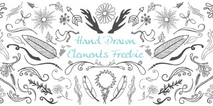 Hand Drawn Elements Vector Freebie - Go Media