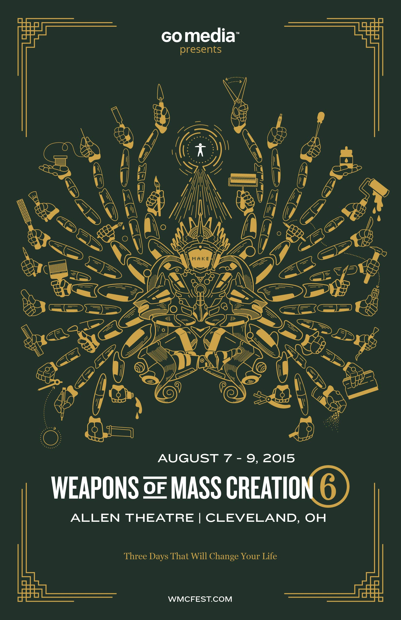 Poster design process - In Thoughts Behind The Weapons Of Mass Creation Fest 6 Poster I Went Over My Process Of Researching Note Taking And Inspiration Hunting For The Creation