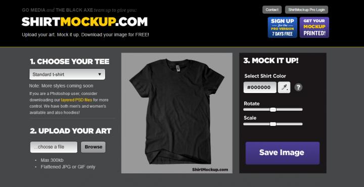 T-Shirt Mock Up Website