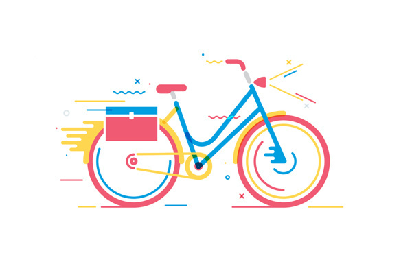 bicycle simple illustration