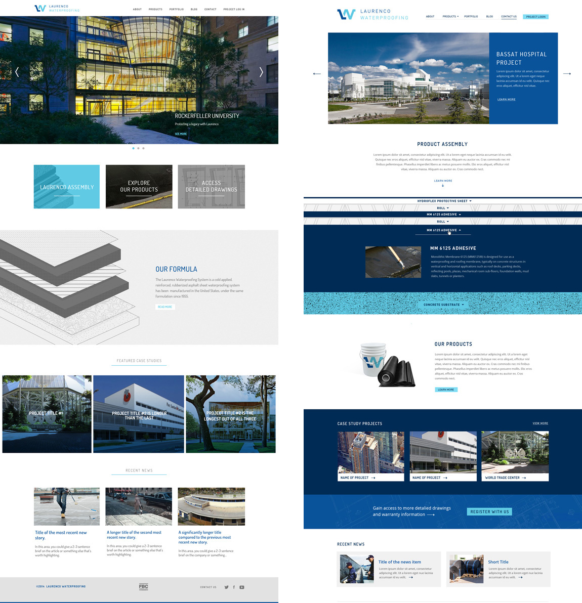 Laurenco Website Responsive Homepage Designs