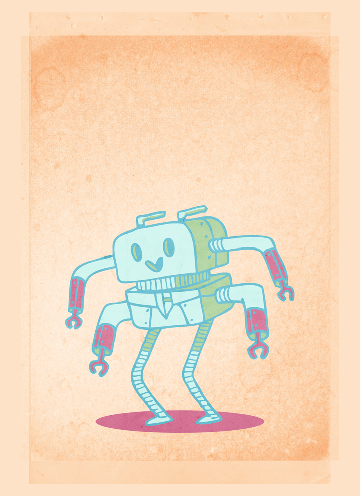 How to create a cute robot children book cover with Justin Will's hand drawn Sci-Fi vectors!
