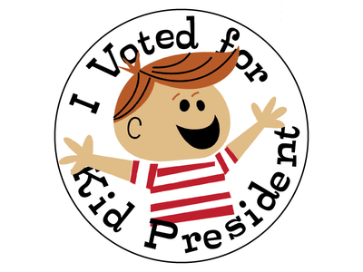 I Voted for Kid President Button by Titus Smith