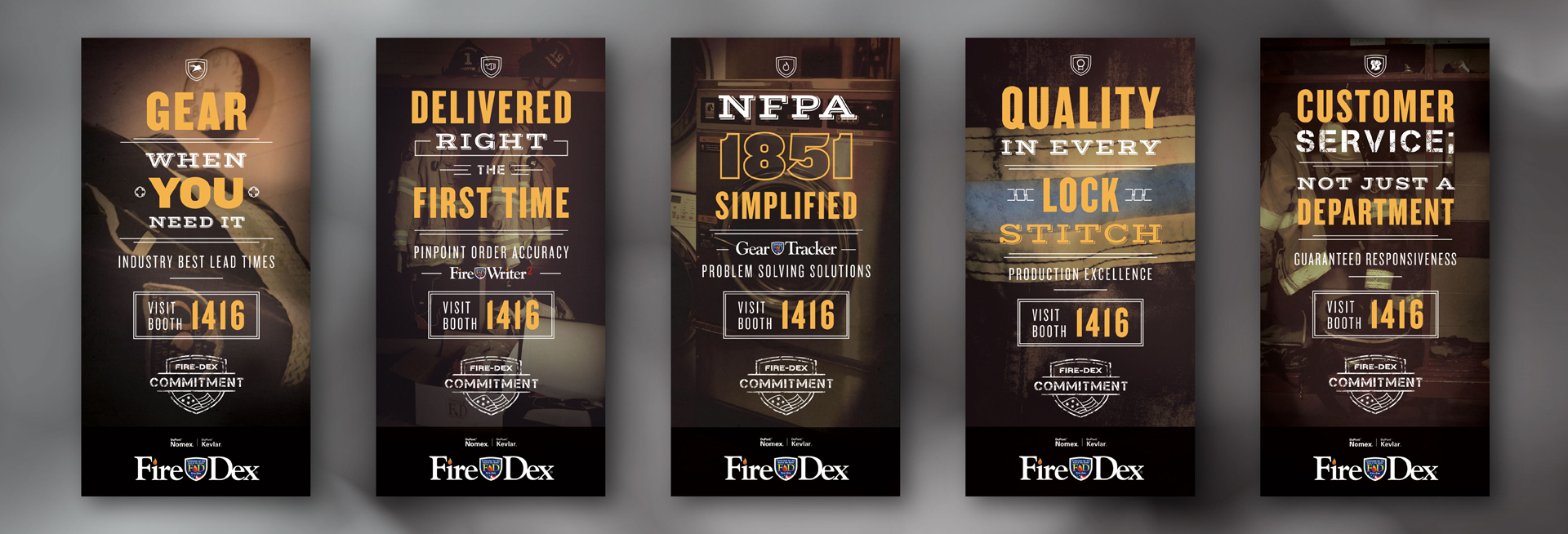FireDex Graphic Design Posters FDIC 2015