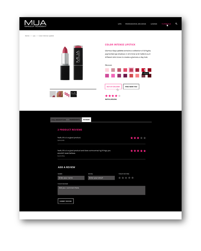 MUA Website Early Concepts