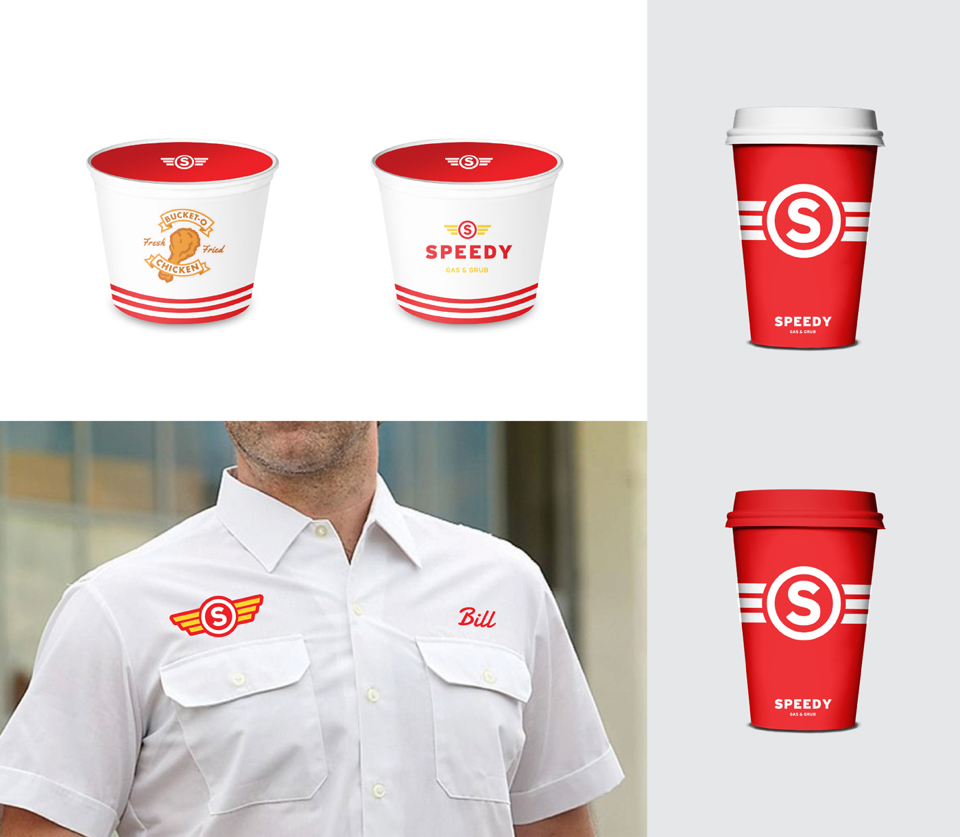 Speedy Gas Branding Mock Ups