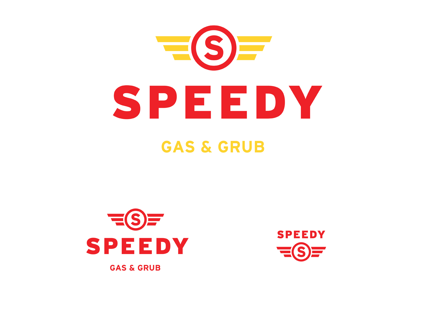 Speedy Gas Graphic Design Branding Primary Logos