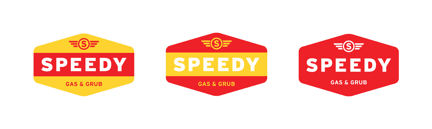 Speedy Gas Graphic Design Branding Secondary Logo Badges