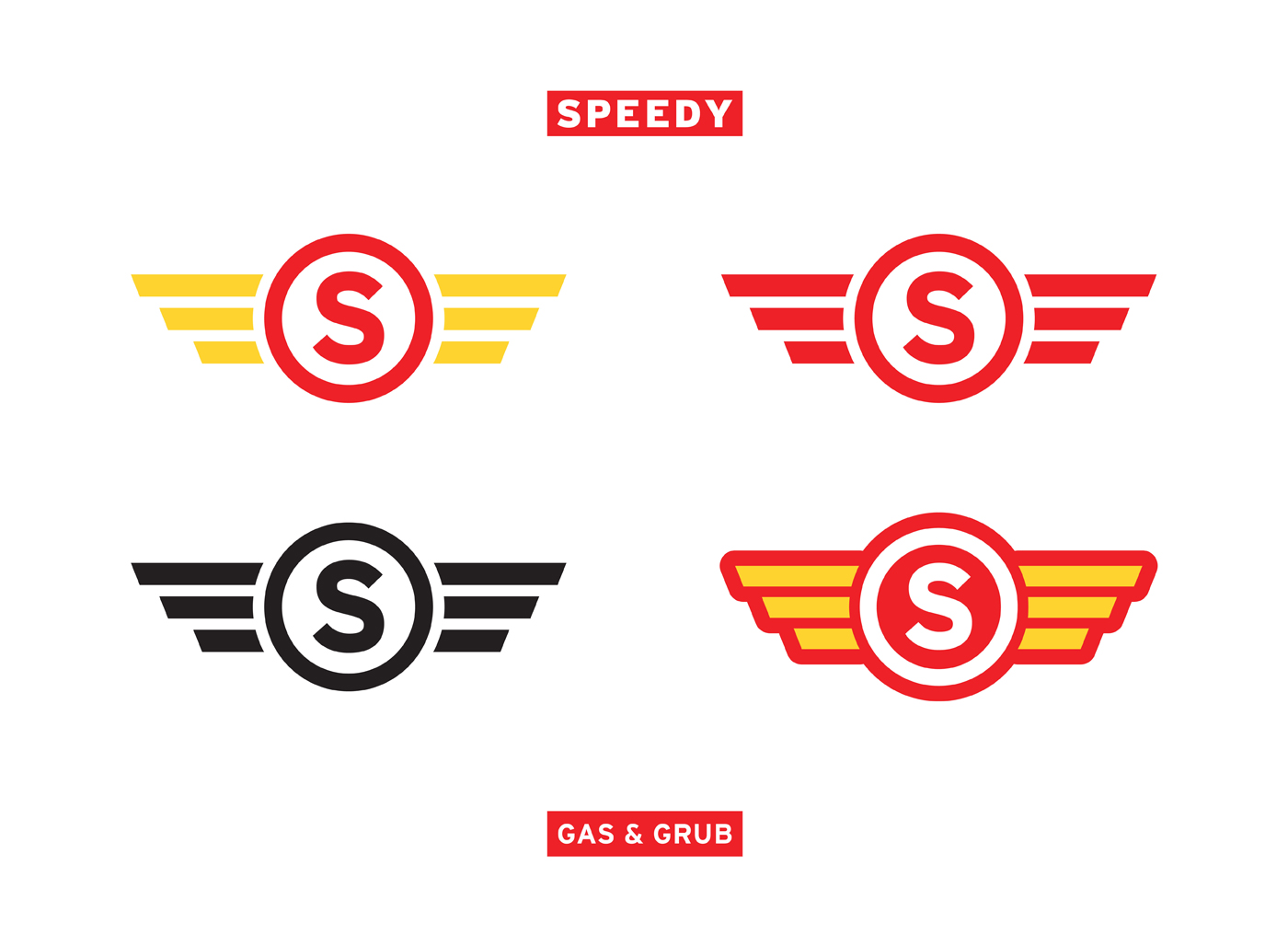 speedy gas graphic design branding secondary logos