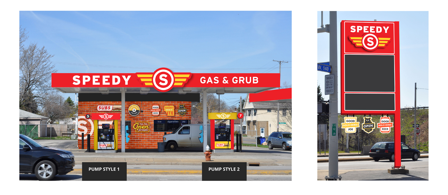 Speedy Gas Branding Station Mock Up