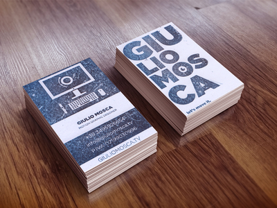 Stamp Business Card by Giulio Mosca