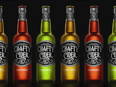 Crafty Cider Bottle Design by Scott Biersack