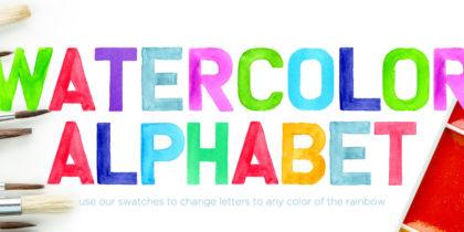 Watercolor Alphabet Font
